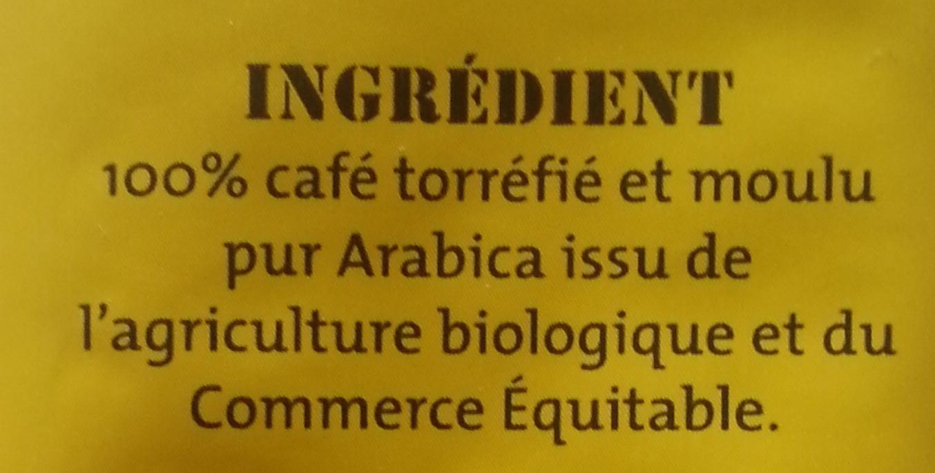 Pur arabica Mexique Doux & équilibré - Ingrediënten
