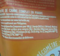 Sucre complet  pure canne  muscovada - Nutrition facts - fr