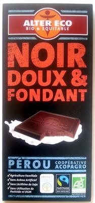 Chocolat noir doux et fondant bio et équitable - Produit