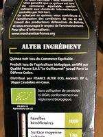 500G Quinoa Noir Bio Alter Eco - Ingrediënten
