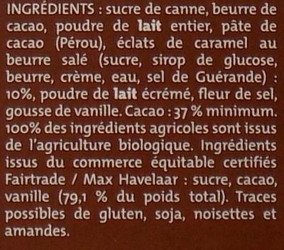 Lait Caramel Beurre salé - Ingredients