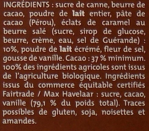 Lait caramel beurre salé - Ingrediënten - fr