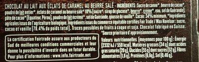 Lait caramel beurre salé - Voedingswaarden - fr