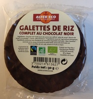 Galettes de riz complet au chocolat noir - Prodotto - fr