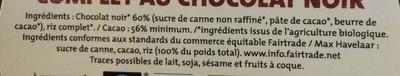 Galettes de riz complet au chocolat noir - Ingredienti - fr