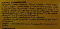 Muesli pomme-abricot Bio et Equitable Alter Eco - Ingrédients - fr