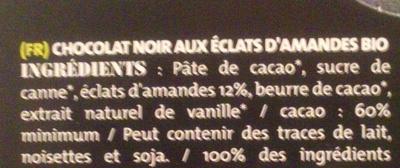 Noir Amandes - Ingrediënten