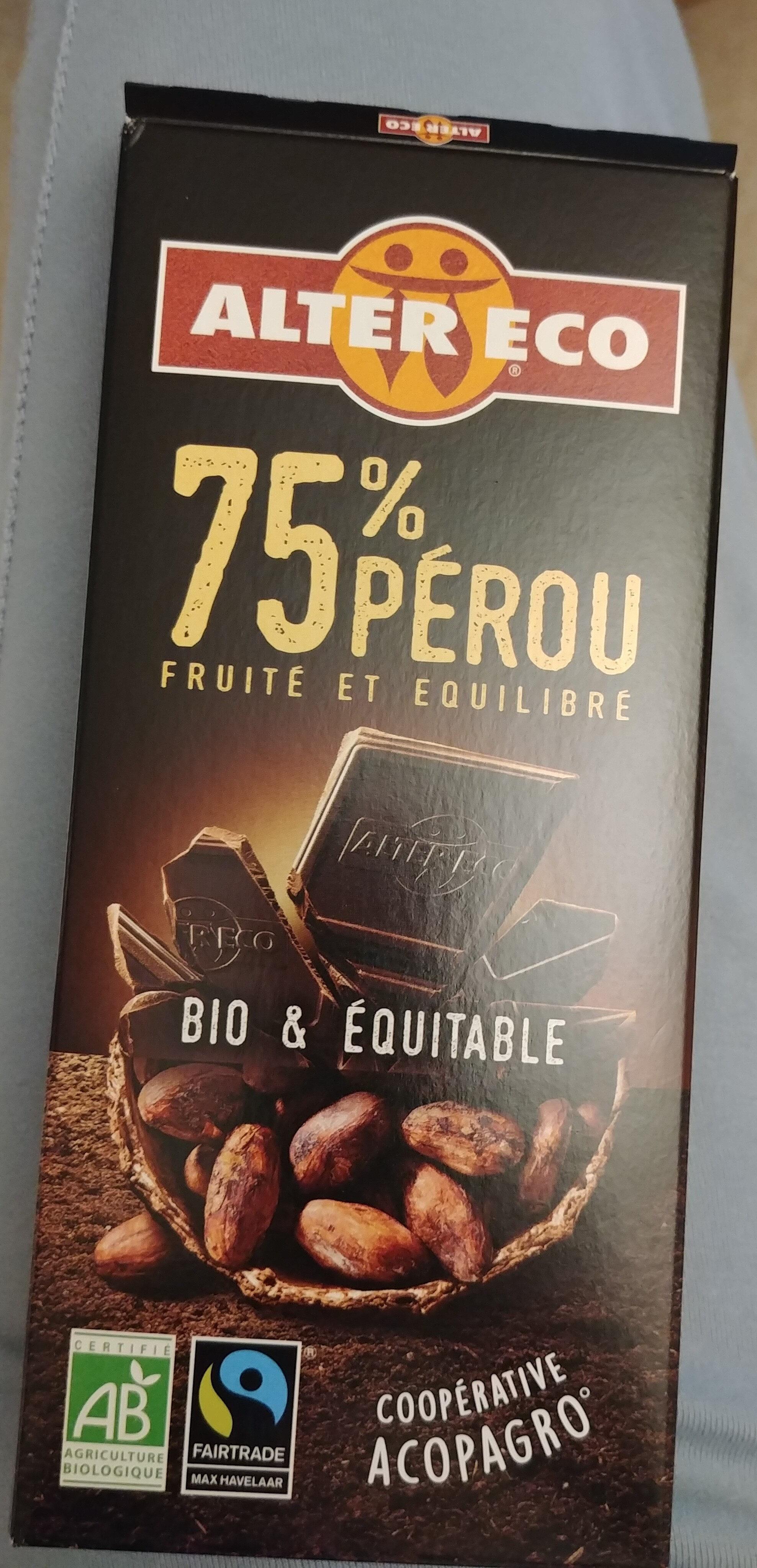 Chocolat noir 75% Pérou - Prodotto - fr
