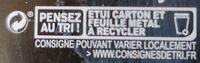 Chocolat noir 75% Pérou - Istruzioni per il riciclaggio e/o informazioni sull'imballaggio - fr