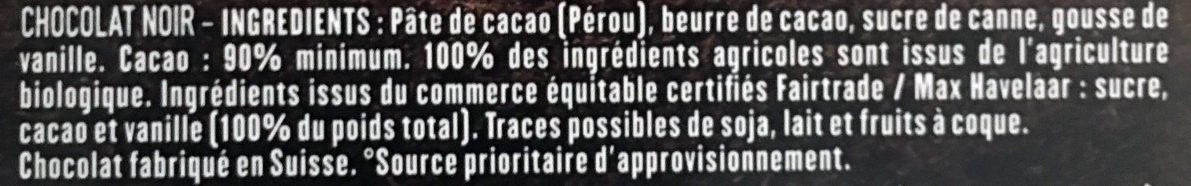 Pérou 90% - Ingrédients
