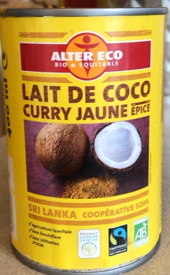 Lait de coco curry jaune épicé - Product - fr