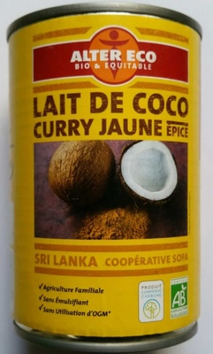 Lait de coco curry jaune - Product - fr