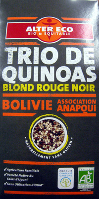 Trio de quinoas blond rouge noir Bio et Ethiquable Alter Eco - Product