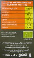 Trio de quinoas blond rouge noir Bio et Ethiquable Alter Eco - Nutrition facts