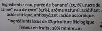 Banane coco Alter Eco - Ingrediënten - fr