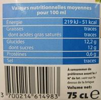Banane coco Alter Eco - Voedingswaarden - fr