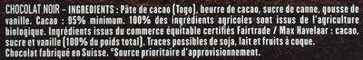 Chocolat noir 95% - Ingredienti - fr