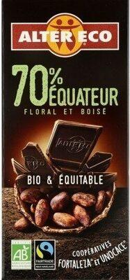 Chocolat noir 70% Equateur - Product - fr