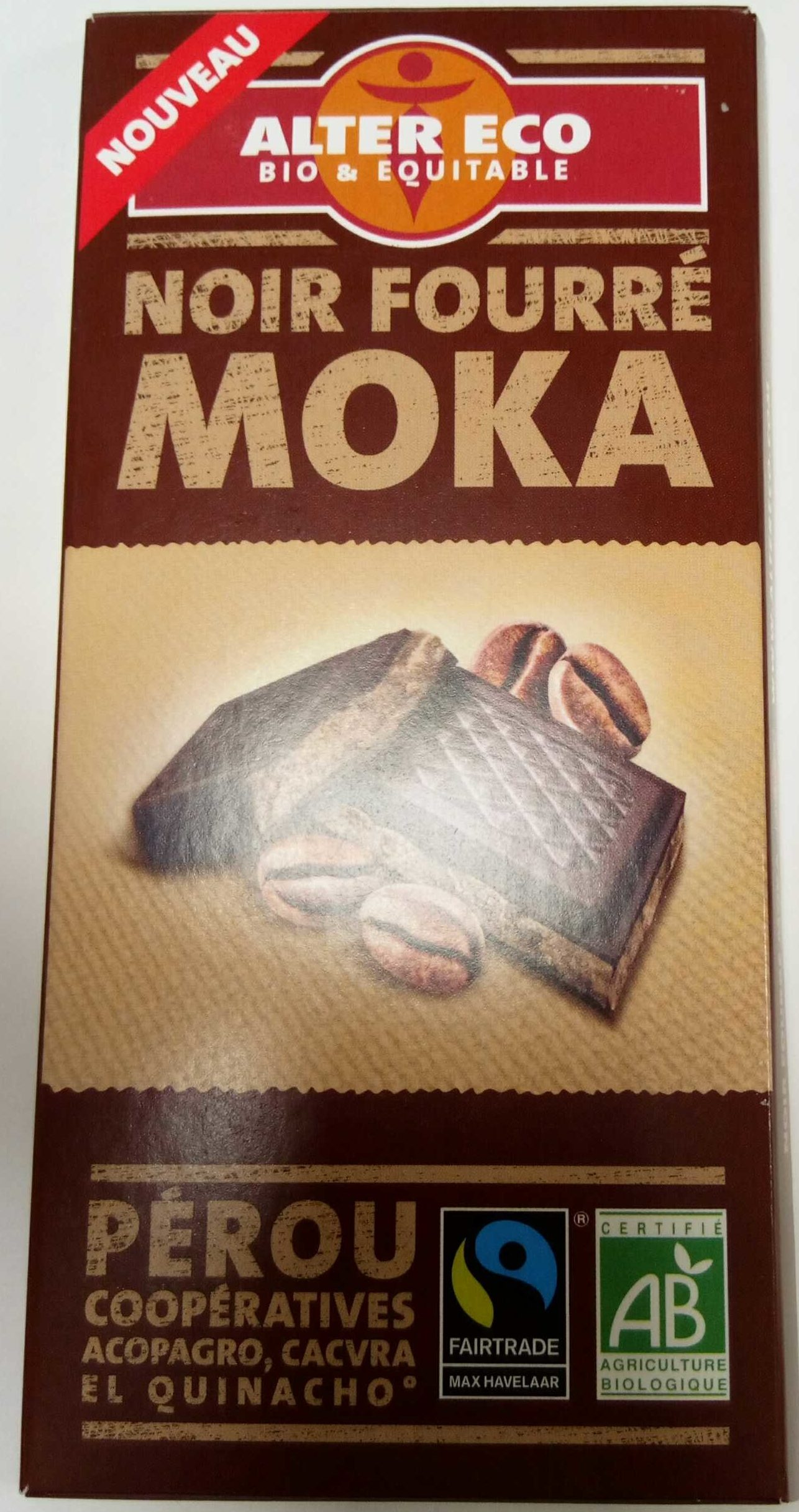 Chocolat Noir Fourré Moka - Product