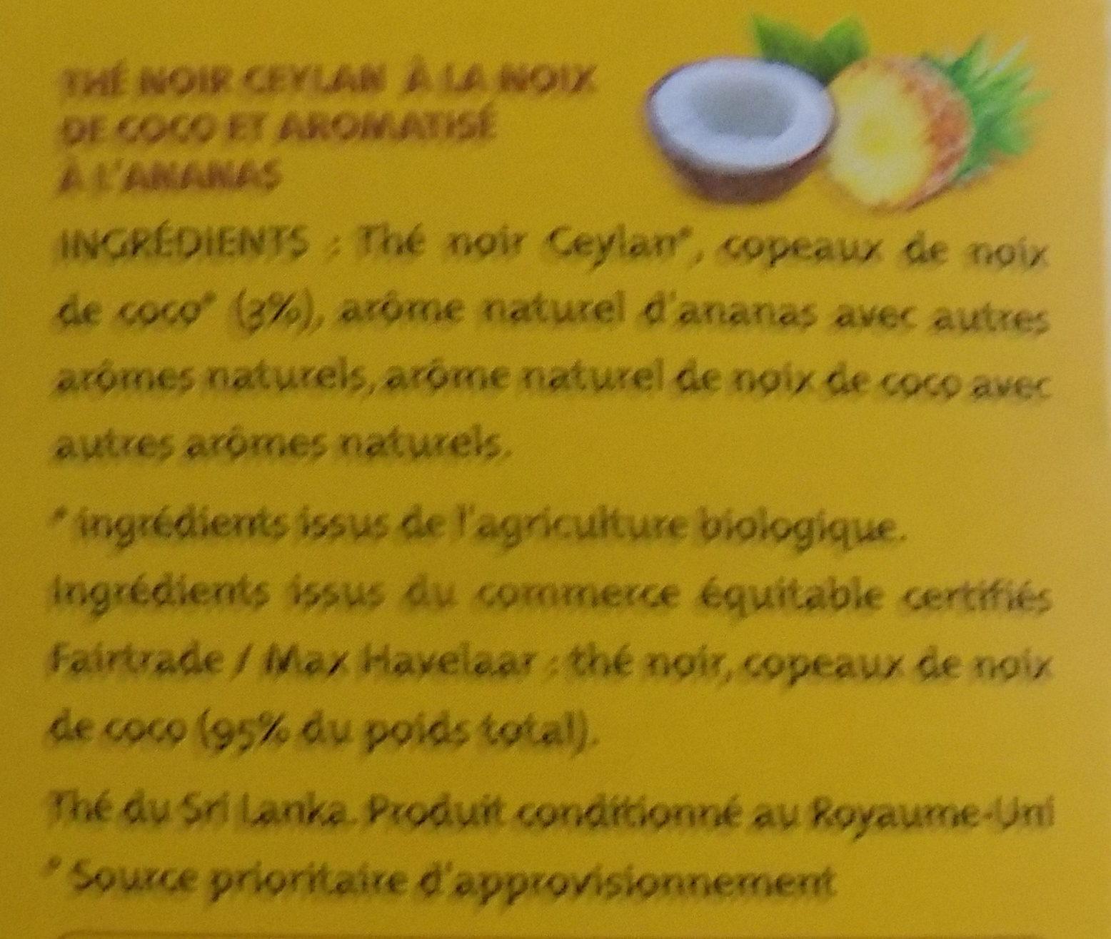 Thé noir Ananas Noix de coco - Ingredients - fr