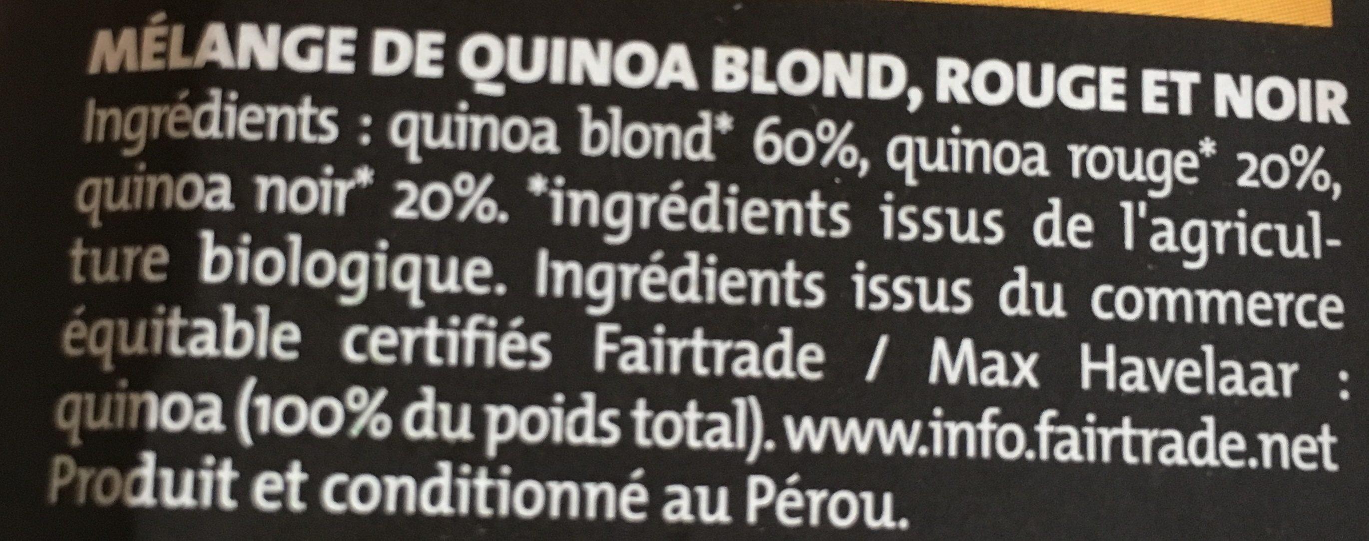 Trio de Quinoa blond rouge noir - Ingredienti - fr