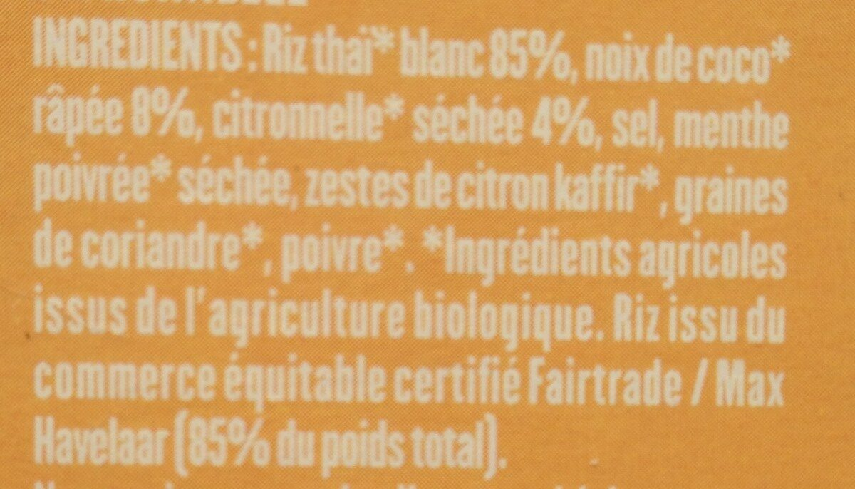 RIZ THAI COCO CITRONELLE - Ingredienti - fr