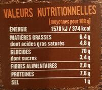 RIZ THAI COCO CITRONELLE - Valori nutrizionali - fr