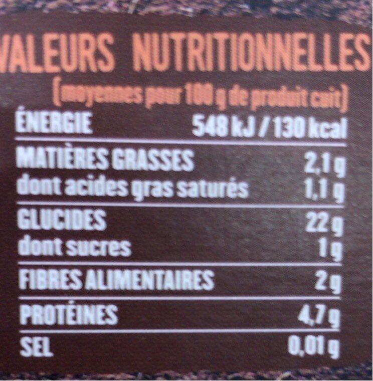 Quinoa - Voedingswaarden - fr
