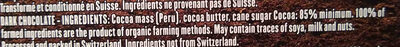 85 pct peru chocolate - Ingrediënten - en