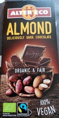 Chocolat noir aux amandes - Nutrition facts - nl