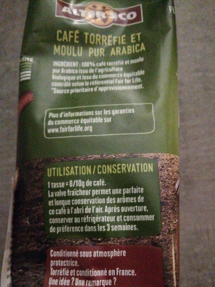Pur arabica Éthiopie - Informations nutritionnelles - fr
