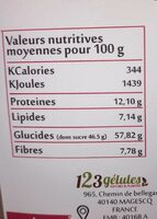 Baies De Goji - 500 GR - Informations nutritionnelles - fr