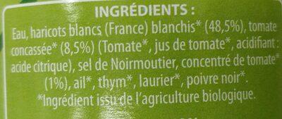 Haricots Blancs cuisinés à la tomate - Ingredienti - fr