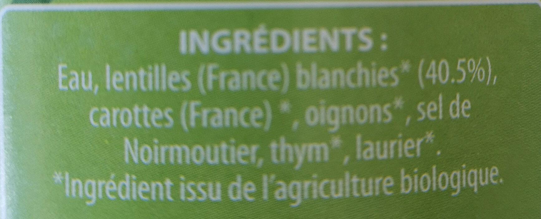 Lentilles cuisinées - Ingrédients - fr