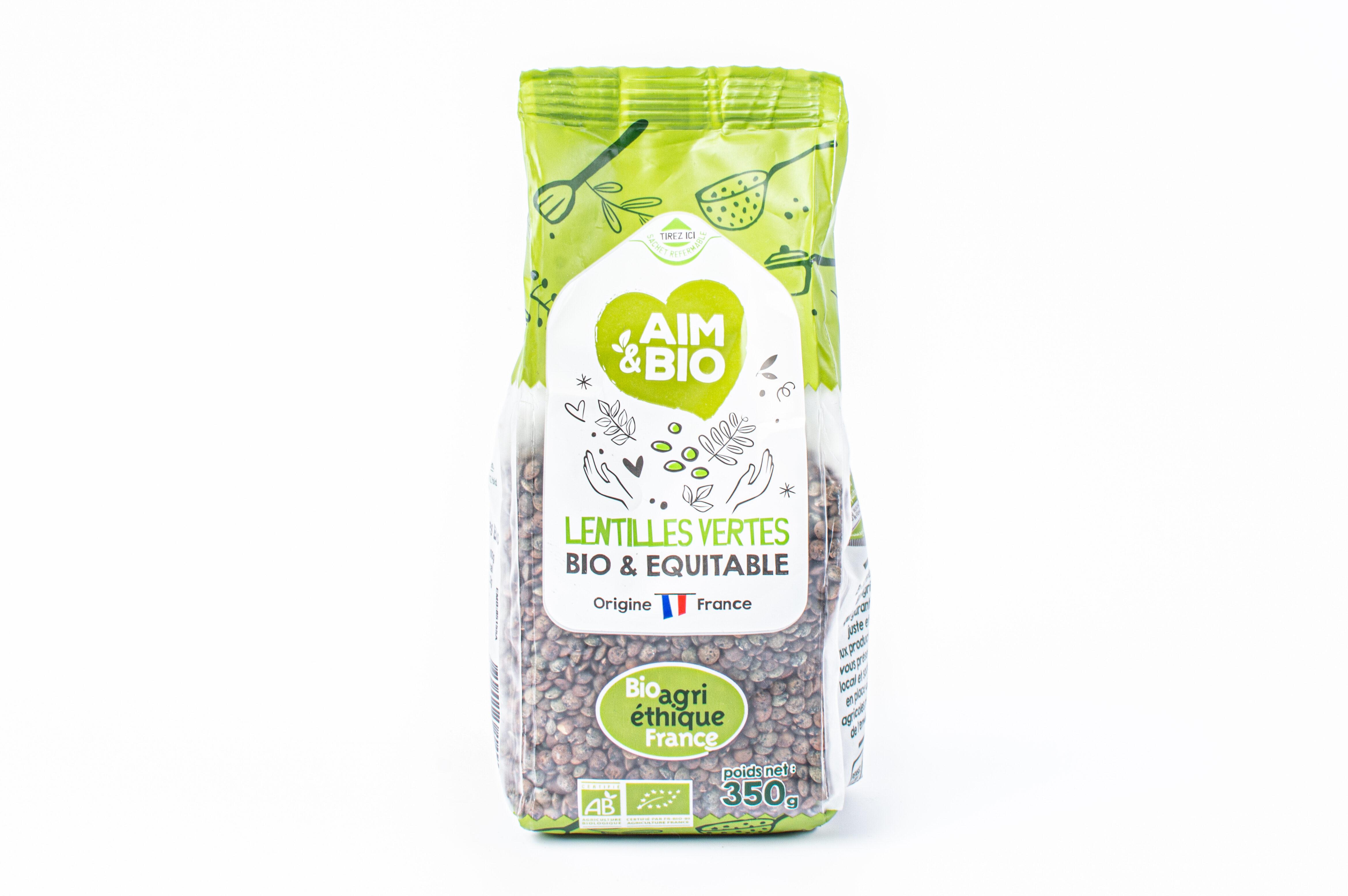 Lentilles vertes biologiques - Produit - fr