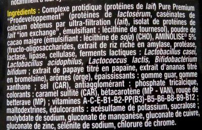 Whey Pure Premium Protein Vanille - 750GR - STC Nutrition - Ingrédients - fr