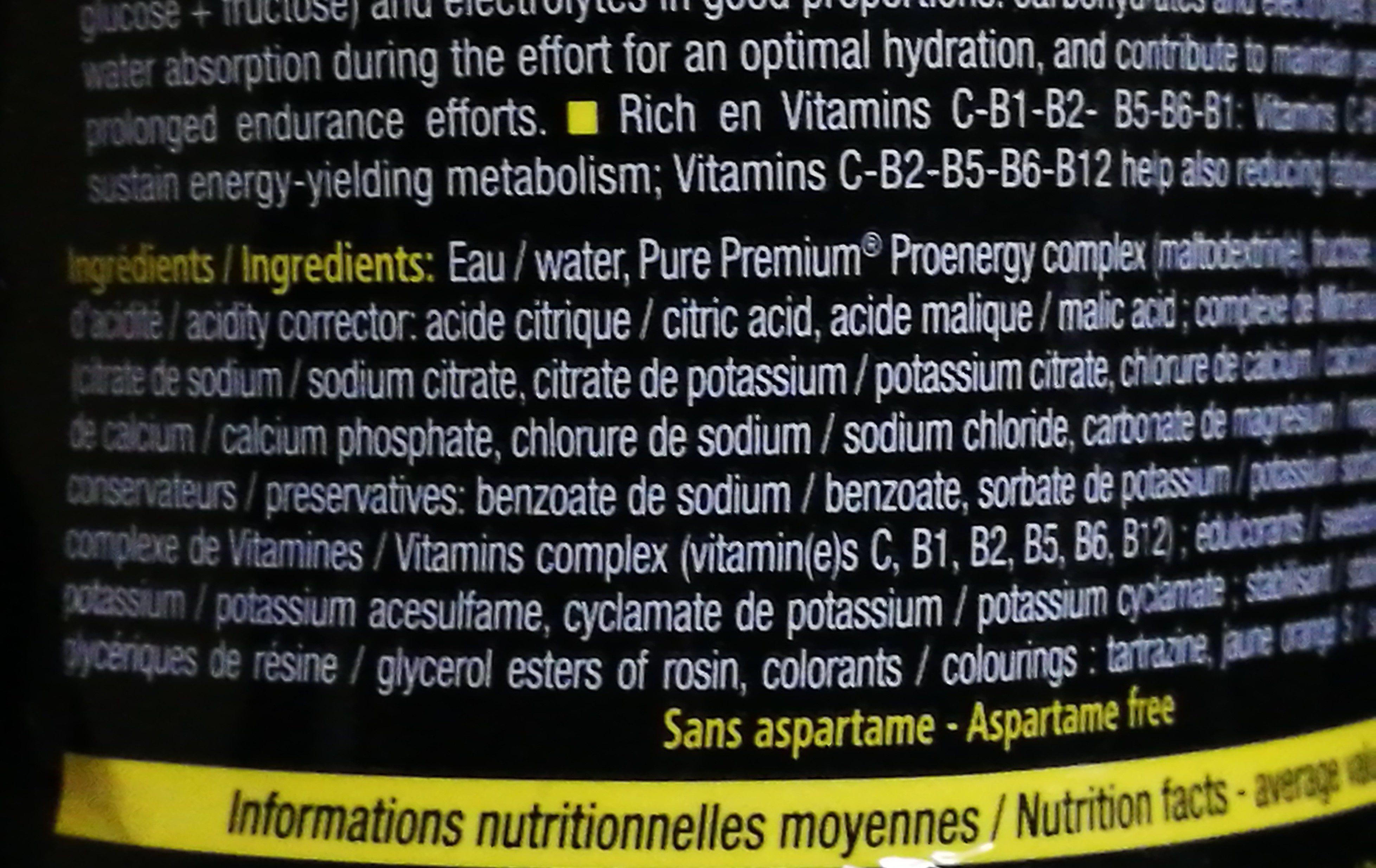 STC Nutrition Mineral Drink énergie, Gout Orange - Bouteille - Ingrédients - fr