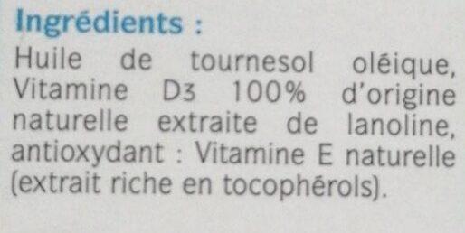 Vitamine D3 400 UI - Ingrédients - fr