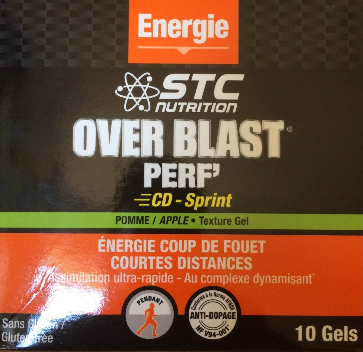 Overblast Perf' Cd-sprint Pomme - 10 Gels - STC Nutrition - Product - fr