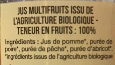 Pur Jus de multifruits Bio - Ingredienti - fr
