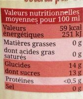 Jus de Pomme-Pruneau - Valori nutrizionali - fr