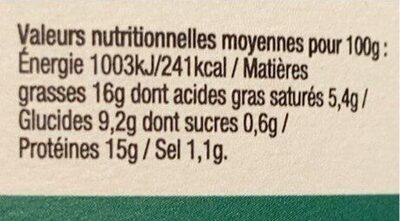 Cassoulet Supérieur au confit de canard - Voedingswaarden - fr