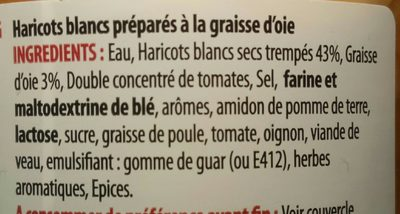 Haricots blancs à la graisse d'oie - Ingredients