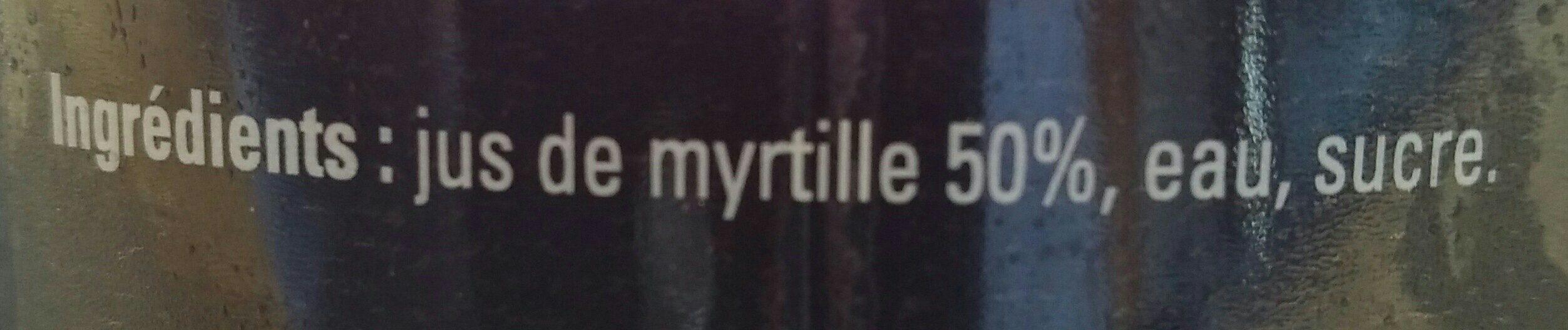 Nectar de Myrtille - Ingredients - fr