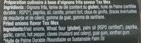 oignons Frits saveur tex-mex - Ingredients - fr