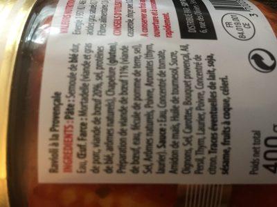 Ravioli à la provençale - Ingredienti - fr