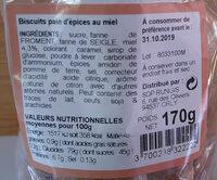 Biscuits au pain d'épices - Ingredients