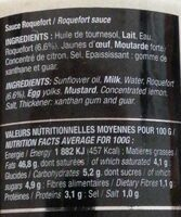 Sauce roquefort - Valori nutrizionali - fr