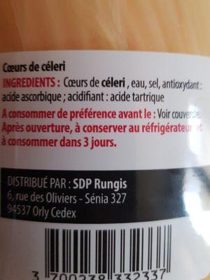 Coeurs de céleri - Ingrédients - fr