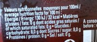 Limonade Myrtille Sauvage 75CL - Nutrition facts - fr